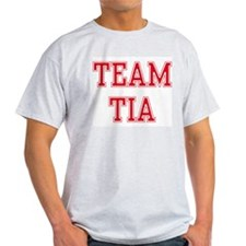 TEAM TIA  Ash Grey T-Shirt