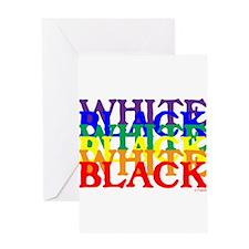 BLACK WHITE UNITY.psd Greeting Card