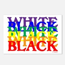 BLACK WHITE UNITY.psd Postcards (Package of 8)