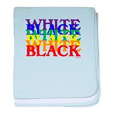 BLACK WHITE UNITY.psd baby blanket