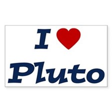 I HEART PLUTO Rectangle Decal