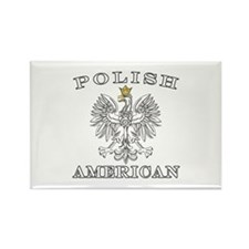 Polish American Eagle With Gold Crown Rectangle Ma