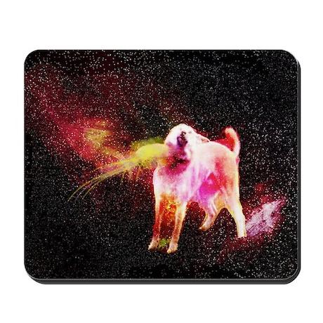 Cosmic God Doge Mousepad