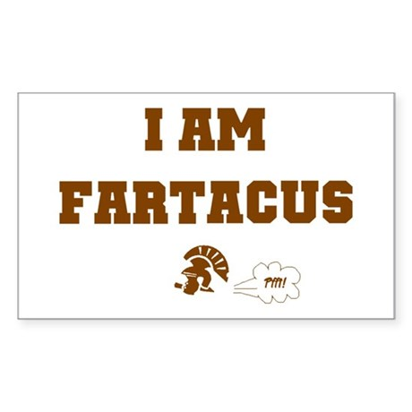 Fartacus Rectangle Sticker