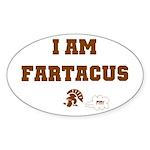 Fartacus Oval Sticker