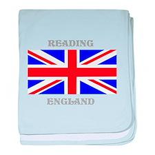 Reading England baby blanket
