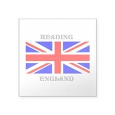 "Reading England Square Sticker 3"" x 3"""