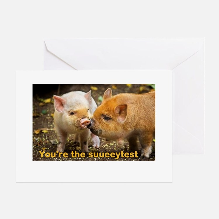 Valenswines Day Greeting Card