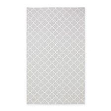 Grey White Quatrefoil 3'x5' Area Rug