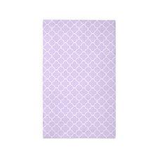 Purple White Quatrefoil 3'x5' Area Rug