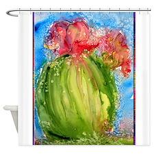 Cactus, colorful, southwest art Shower Curtain
