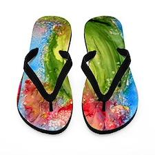 Cactus, colorful, southwest art Flip Flops