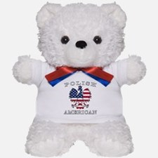 Polish American Flag Eagle Teddy Bear
