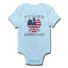 Polish American Flag Eagle Infant Bodysuit