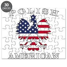 Polish American Flag Eagle Puzzle
