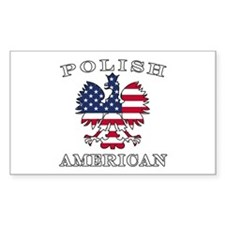 Polish American Flag Eagle Decal