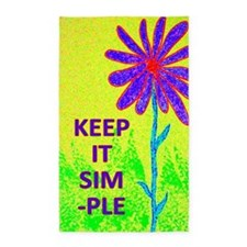 Wildflower Keep It Simple 3'x5' Area Rug