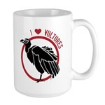 Love Vultures Large Mug
