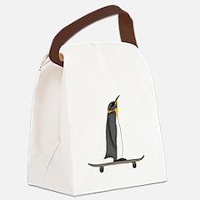 Cool Penguin Canvas Lunch Bag