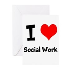 I heart Social Work Greeting Cards (Pk of 10)