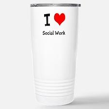 I heart Social Work Travel Mug