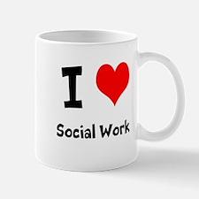 I heart Social Work Mug