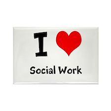 I heart Social Work Rectangle Magnet