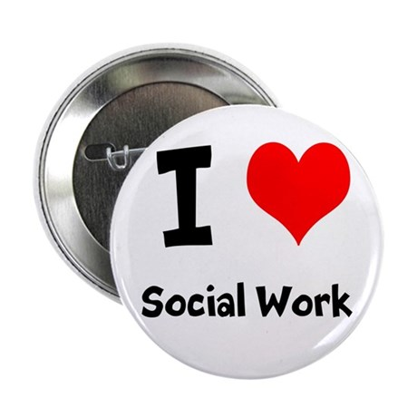 "I heart Social Work 2.25"" Button"