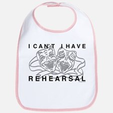 I Can't I Have Rehearsal w LG Drama Masks Bib