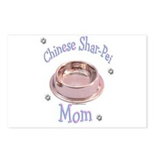 Sharpei Mom Postcards (Package of 8)