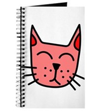 Red Cat Face Journal