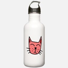 Red Cat Face Water Bottle