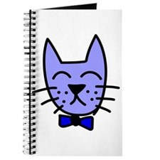 Blue Cat Face Journal