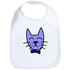 Blue Cat Face Bib