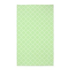Mint Green White Quatrefoil 3'x5' Area Rug