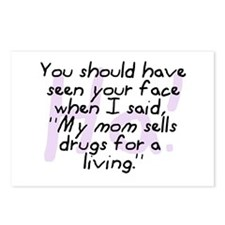 Mom Sells Drugs Postcards (Package of 8)