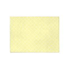 Yellow White Quatrefoil 5'x7'Area Rug