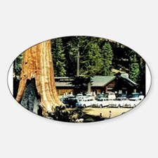 Retro Red Wood Park Decal
