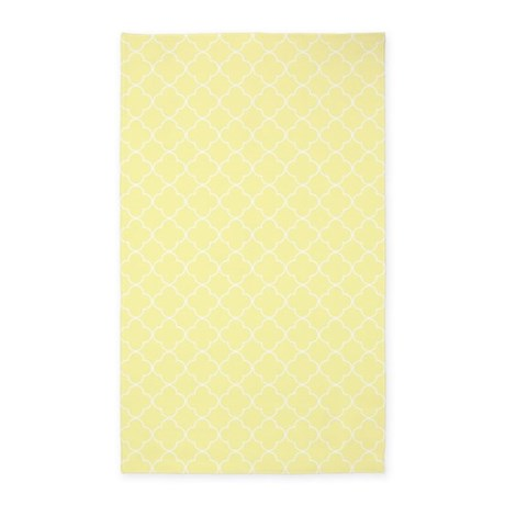 yellow white quatrefoil 3 39 x5 39 area rug by dreamingmindcards. Black Bedroom Furniture Sets. Home Design Ideas