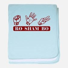 Ro Sham Bo baby blanket