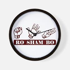 Ro Sham Bo Wall Clock