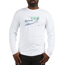 Florida Keys - Map Design. Long Sleeve T-Shirt