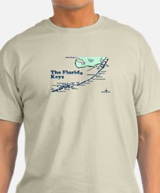 Florida Keys - Map Design. T-Shirt