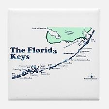 Florida Keys - Map Design. Tile Coaster
