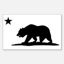 Cali Bear Black Decal