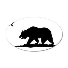 Cali Bear Black Wall Decal