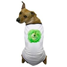 Cute Bunny in Green Dog T-Shirt