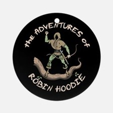 Robin Hoodie Ornament (Round)