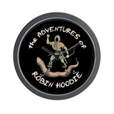 Robin Hoodie Wall Clock