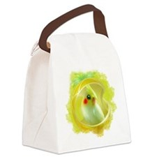 Whimsical Cockatiel -Yellow Bird Canvas Lunch Bag